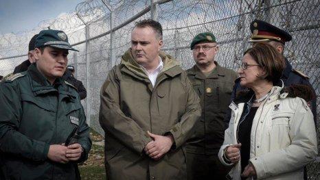 besuch des Grenzzauns Bulgarien Türkei am 12 03 2016