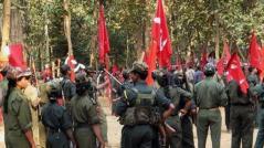 Kämpfer im Volkskrieg in Indien