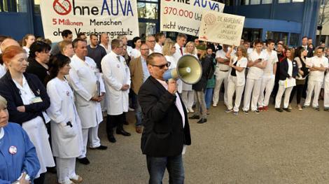 Bereits 2018 Protestierten die Beschäftigten der AUVA-Spitäler